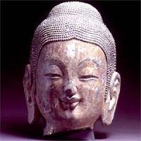 This find of traditional Chinese Buddhist art was buried for over 900 year. Part of the The Royal Academy's exhibition. Northern Qi (550-577 AD) © The State Administration of Cultural Heritage, People's Republic of China