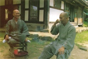 Korean Monks having Tea