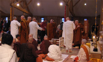 Amaravati Buddhist Monastery. The Kathina ceremony 14th November 2010