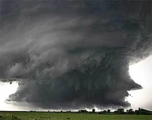 Twister during hurricane Katrina