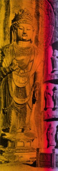 Standing Buddha Rock carving