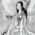 Hakuin Ekaku, 1685-1768, Monju. Ink on paper, 32 x 10.6 in. Chikusei Collection.