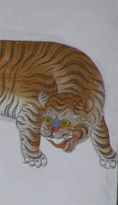 Tiger wall painting detail. Photo: © Paul Heatley