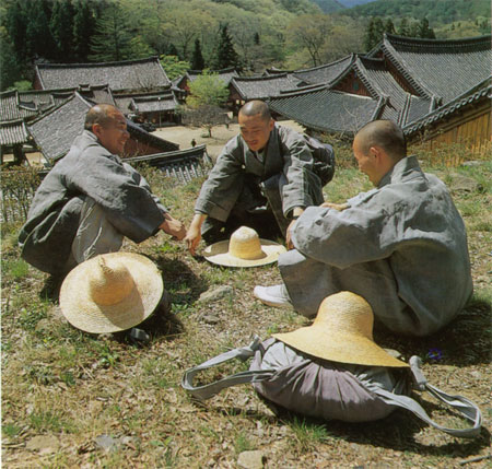 Korean Monks Resting