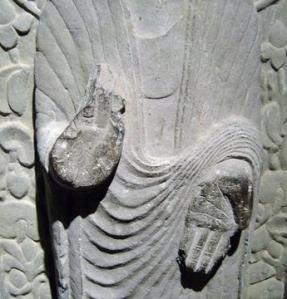 Stone Buddha in Mudra