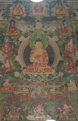 Buddha with His Hands Held in the Dharmacakra mudrâ Tibetan C18th © Harvard Art Museums/Arthur M. Sackler Museum, Bequest of Annie Swan Coburn