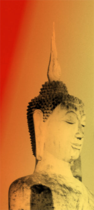 Buddha head. Photo © Lisa Daix