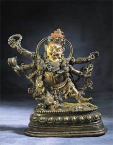 Mahakala, 15th century, Tibet, Bronze with pigment. © Norton Simon Art Foundation