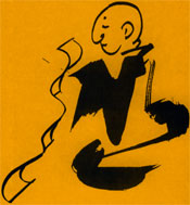 Monk reading sutra. © Marcelle Hanselaar