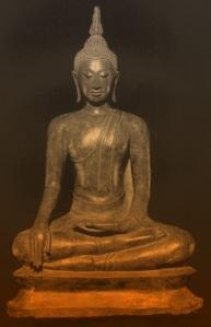 Buddha earth touching pose