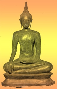 Buddha earth touching pose