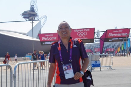 Geshe Tashi in the Olympic village