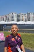 Geshe Tashi in the Olympic village