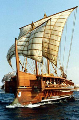 Greek Galley Ship. Photo Wikimedia Commons.