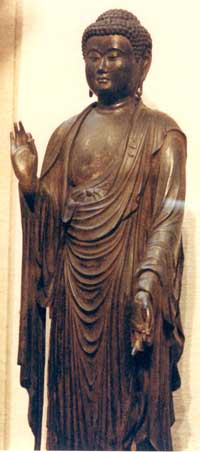 Amida Buddha in Vitarka mudra. Teaching or explaining the Buddha Dharma.