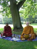 Geshe Lobsang Thinley and Ajahn Sumedho at the BPG 2005 Buddhist Summer School