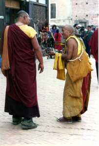 Two Tibetan monks Photo © Lisa Daix