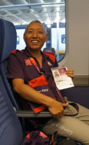 Geshe Tashi Tsering Buddhist Chaplain at London 2012 Olympics.
