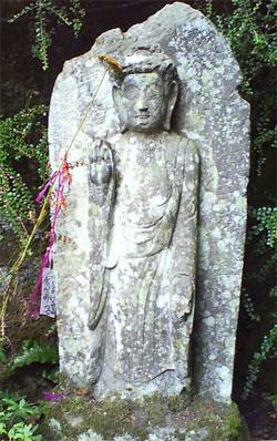 Stone Buddha in Dartington gardens