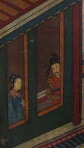 Detail from Chinese screen