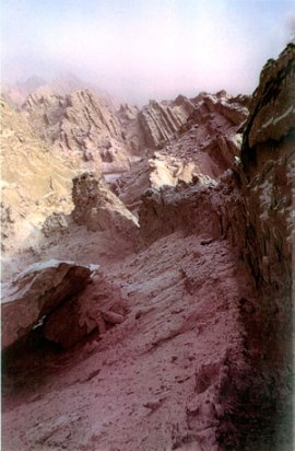 Narrow Pass on the silk road. Photo © Sir John Aske