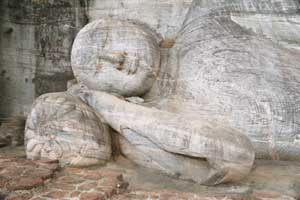 Reclining Buddha at Polonnaruwa, Sri lanka. Photo: Hazel Waghorne