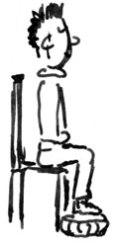 Sedetevi su una sedia.