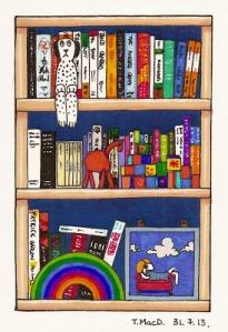 Another shelf. Artwork by @TessaMacDermot