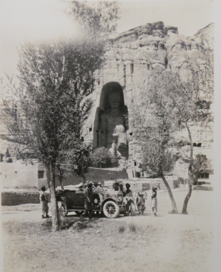 Big bamiyan Buddha with wolseley car. with thanks to @llewelyn_morgan