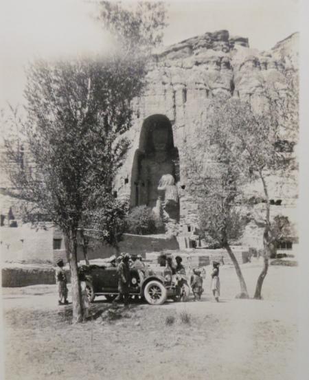 Big bamiyan Buddha with wolseley car. with thanks to @llewelyn_morgan