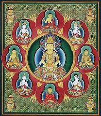 Japanese mandala of the Five Dhyani Buddhas