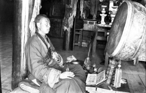 Tibetan Buddhist / Mongolian monk Photo from British Library #endangeredarchives project