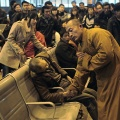 buddhist-monk-china-400 Taiyuan Train Station Shanxi 25 11 2011 (REUTERS Asianewsphoto)