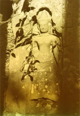 Rock carving, Cambodia, possibly Bodhisattva. © Lisa Daix