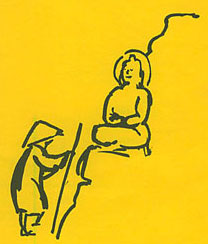 Cover of the June 1989 Buddhism Now. Art © Marcelle Hanselaar