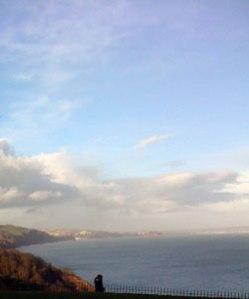 Sea on the coast of Babbacombe, Devon