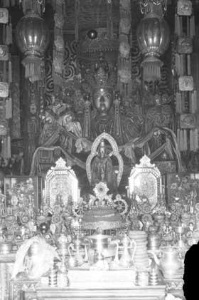 Tibetan shrine. Photo from the British Library #endangeredarchives project, #endangeredarchives, @bl_eap