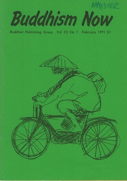 Cover of the February 1991 Buddhism Now. Art © Marcelle Hanselaar