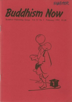 Cover of the February 1992 Buddhism Now. Art © Marcelle Hanselaar