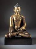 Buddha Shakyamuni or Akshobhya Nepal, 13th century Gilt-copper alloy 13-3/4 x 10-1/4 in. (34.9 x 26 cm) Norton Simon Art Foundation