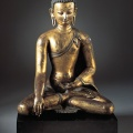 Buddha Shakyamuni or Akshobhya Nepal, 13th century Gilt-copper alloy 13-3/4 x 10-1/4 in. (34.9 x 26 cm) Norton Simon Art Foundation