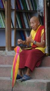 Buddhist monk, Mustang, photo © Lisa Daix