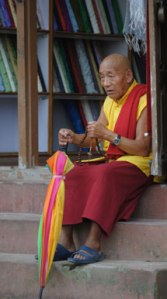 Buddhist monk, Mustang, photo © Lisa Daix