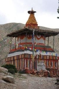 Buddhist stupa, Mustang. Photo © Lisa Daix
