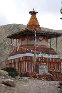 Buddhist stupa, Mustang. Photo © Lisa Daix