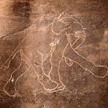 Rock carving of elephants in Tadrart Acacus region of Libya