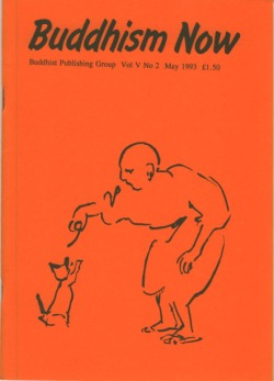 Cover of the May 1993 Buddhism Now. Art © Marcelle Hanselaar