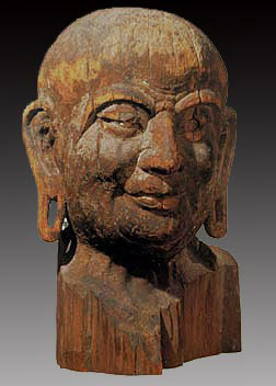 Mahākāśyapa Wooden Head of Kasyapa, Tang Dynasty (AD 618-907)