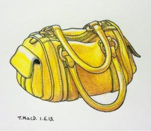 Yellow Bag. Art © @TessaMacDermot