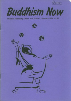 Cover of the February 1994 Buddhism Now. Art © Marcelle Hanselaar
